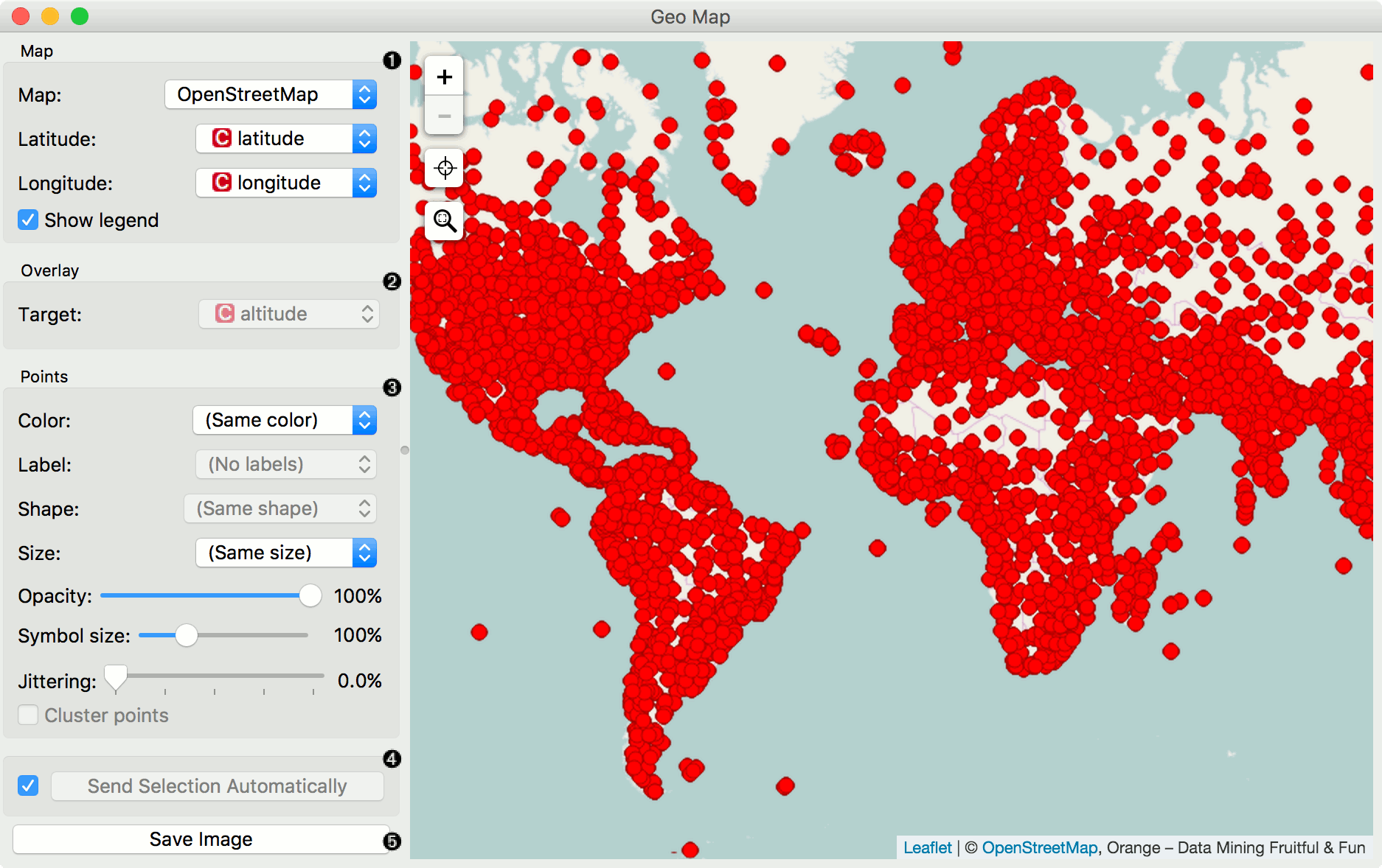 Geo Map — Orange Visual Programming 3 documentation