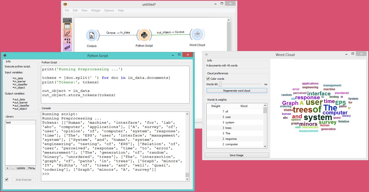 Python Script — Orange Visual Programming 3 documentation