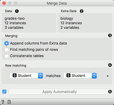 Merge Data — Orange Visual Programming 3 documentation