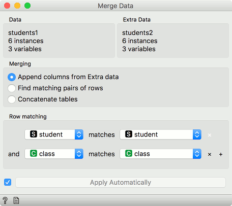 Merge Data — Orange Visual Programming 3 documentation