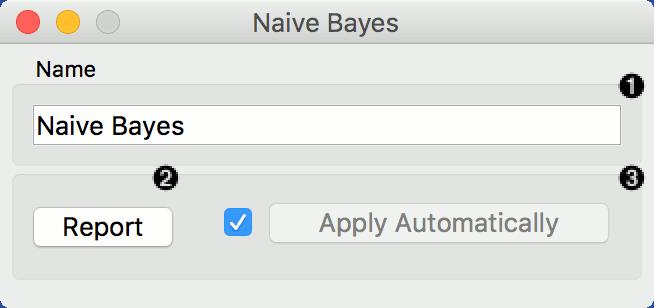 Naive Bayes Orange Visual Programming 3 Documentation