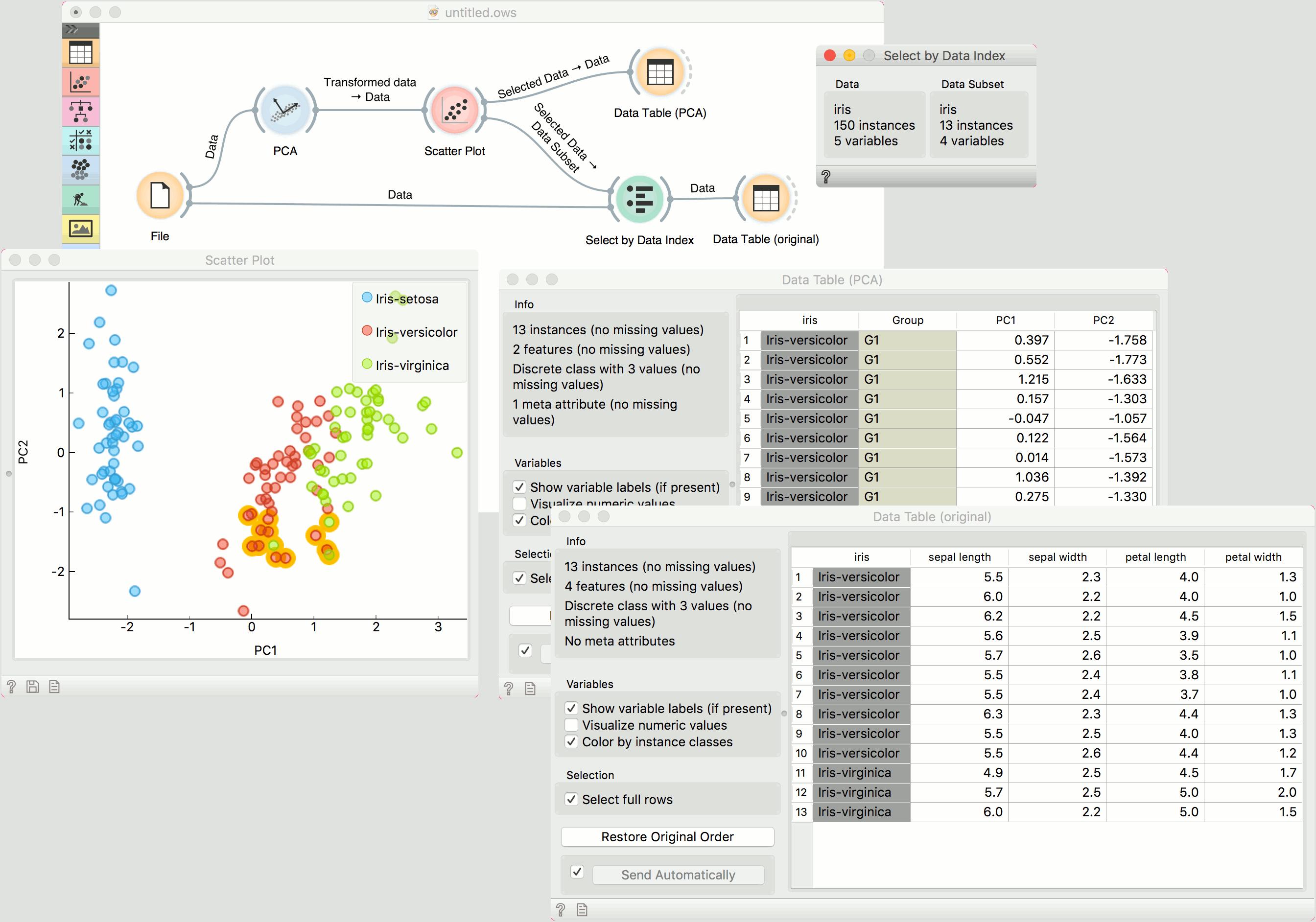 Select by Data Index — Orange Visual Programming 15 documentation